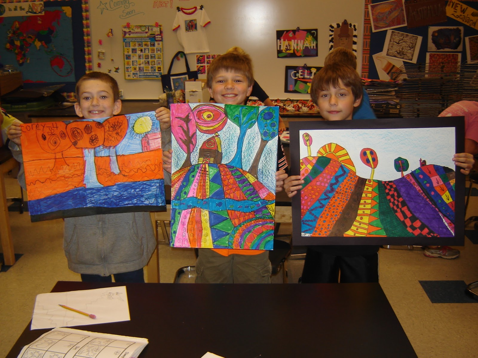 Jamestown Elementary Art Blog 4th Grade Heather Galler Folk Art Landscapes
