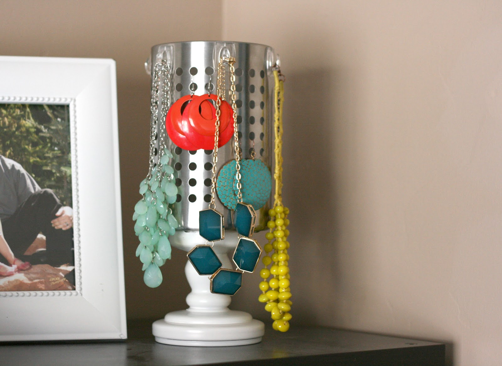 Diy Jewelry Organizer With Ikea Utensil Holder My Sister