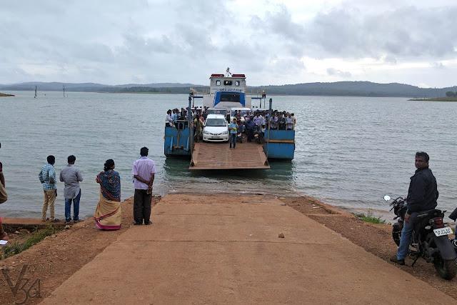 Holebagilu to Sigandur ferry ride