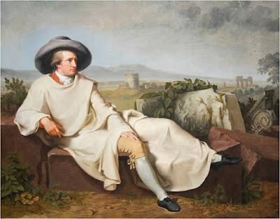 Ο Γκαίτε στην Ιταλία. (Πίνακας Johann Heinrich Wilhelm Tischbein)