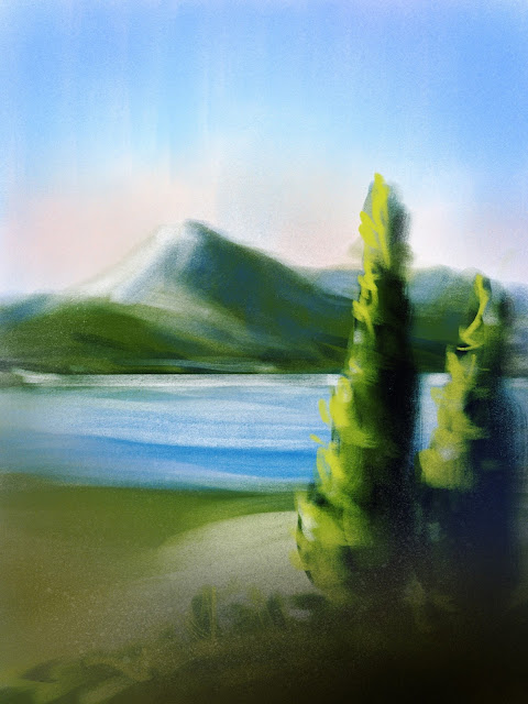 Landscape sketch By Artmagenta