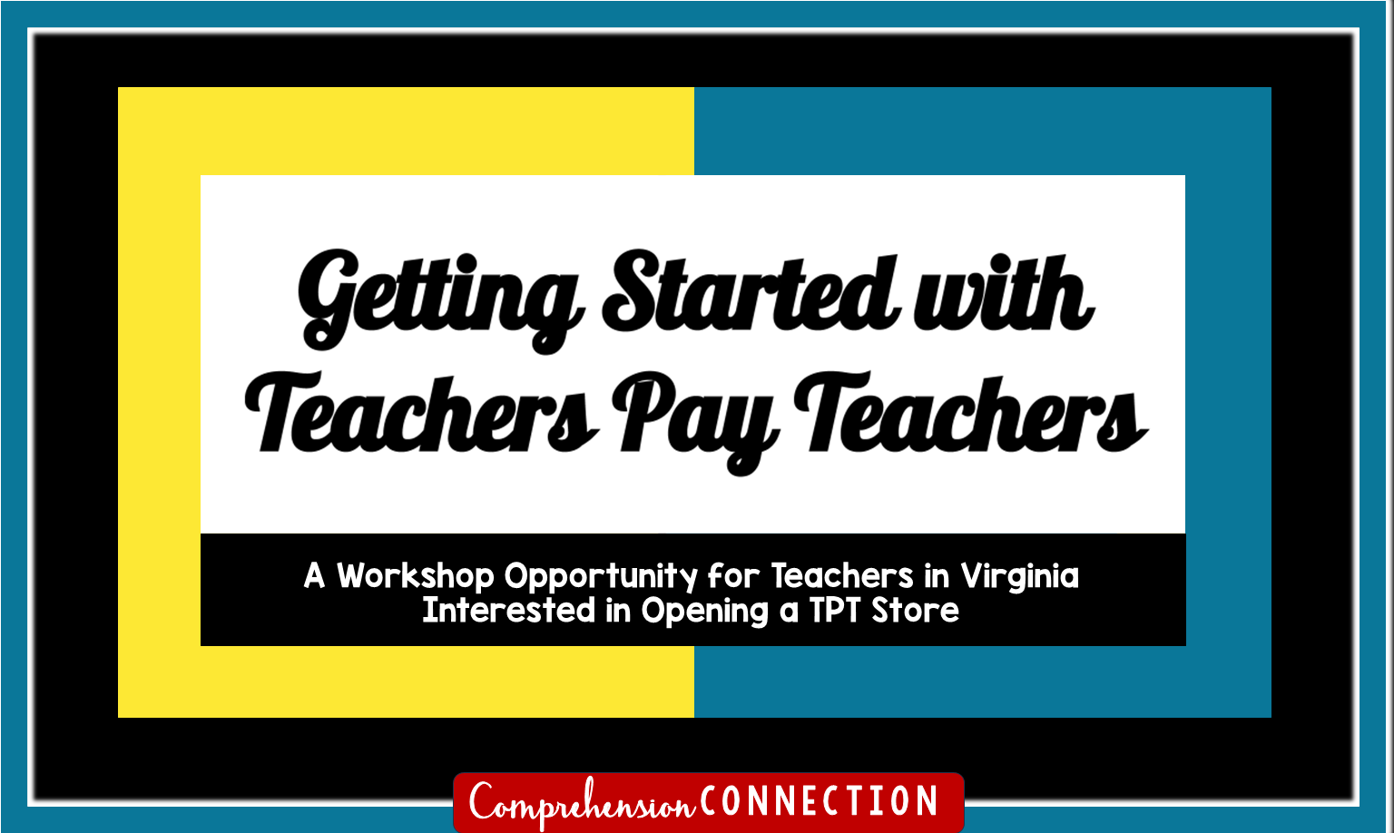 If you've wondered how to get started with Teachers Pay Teachers and you live in Virginia, you might consider this Getting Started with Teachers Pay Teachers Workshop designed to walk you through the process. Check out this post for the details.