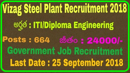 Vizag Steel Recruitment 2018 for 664 Junior Trainee Posts Apply Online Vizag Steel Recruitment 2018: RINL invites application for 664 Junior Trainees | VIZAG Steel Jobs 2018: Apply Online for 664 Junior Trainee Posts | Vizag Steel Recruitment 2018 for Junior Trainee | 664 Vacancies | Last date: 25 September 2018 | Vizag Steel Recruitment 2018: 664 vacancies against Junior Trainee posts @ vizagsteel.com, apply before September 25th Vizag Steel Recruitment 2018 for 664 Junior Trainee Posts Apply OnlineVizag Steel Recruitment Notification 664 Posts/2018/09/vizag-steel-recruitment-2018-for-664-junior-trainee-posts-apply-online-www.vizagsteel.com.html