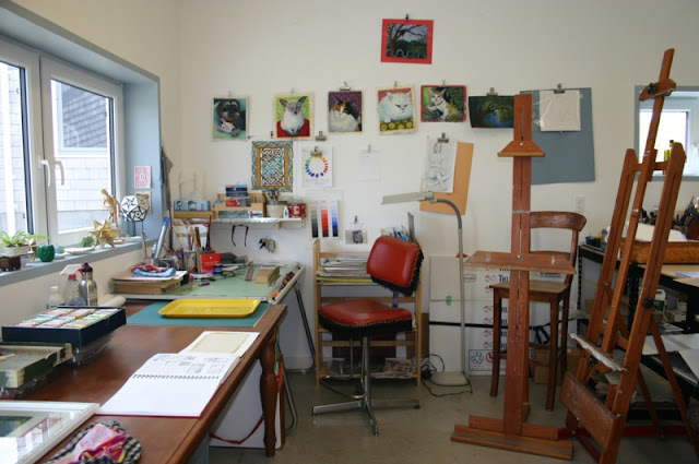 Inside Seaforth Art Studio by Minaz Jantz