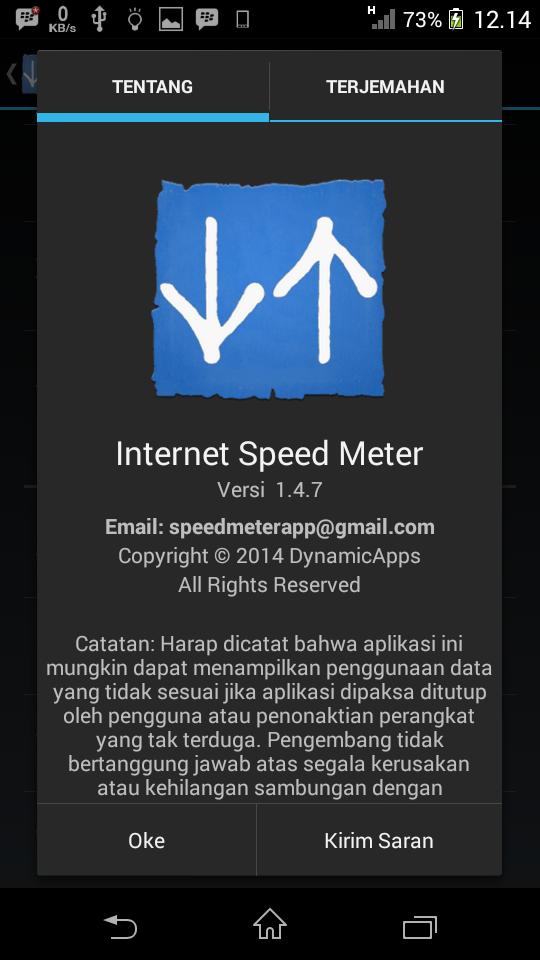 Internet Speed Meter Apk Terbaru