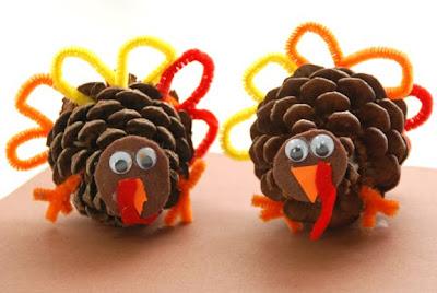 pine cone turkeys fall thanksgiving