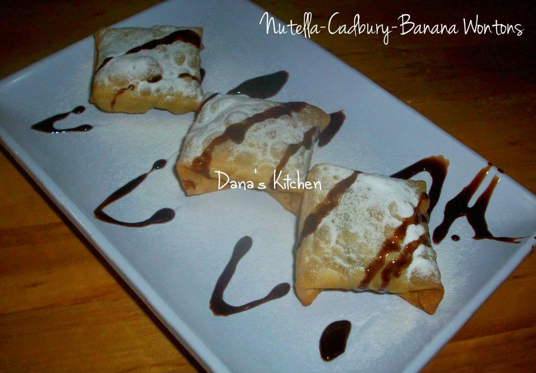 Dana\'s Kitchen: Nutella-Cadbury-Banana Wontons