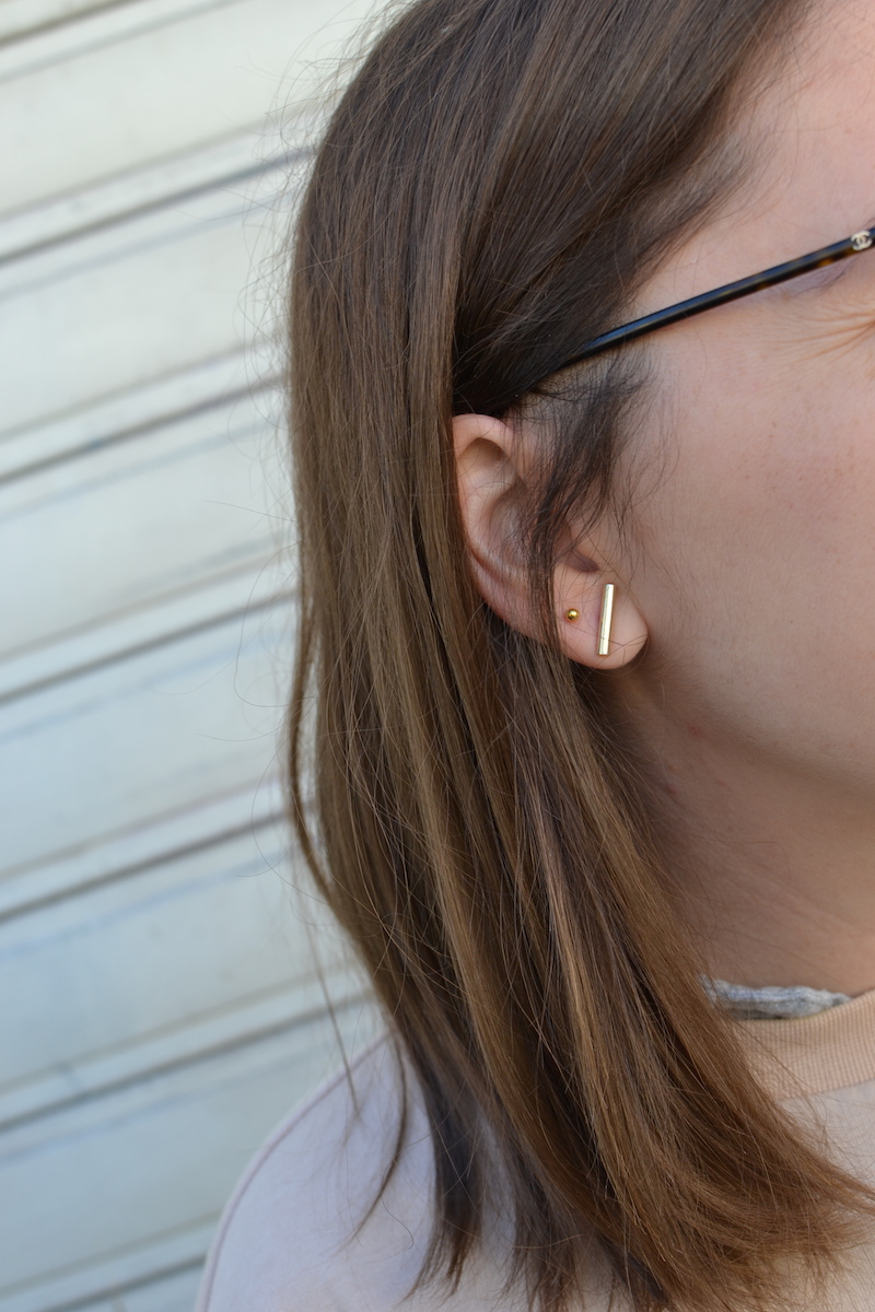 boucle d'oreilles barette