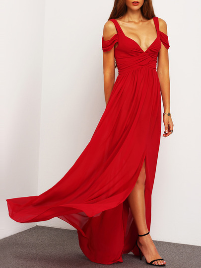 cheap maxi red dress
