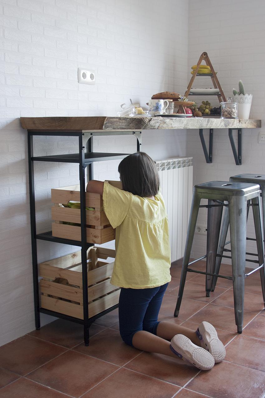 Diy barra de madera raw para nuestra cocina handbox craft lovers comunidad diy tutoriales - Barra cocina madera ...