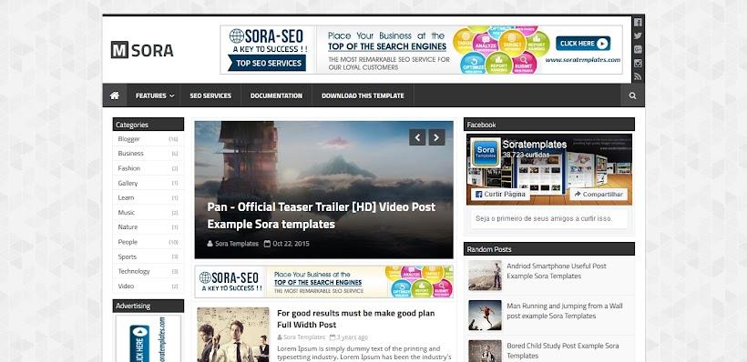 mSora Free Blogger Template
