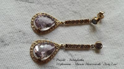 kolczyki ślubne biżuteria ślubna ametyst cyrkonie dodatki na ślub blog modowy netstylistka