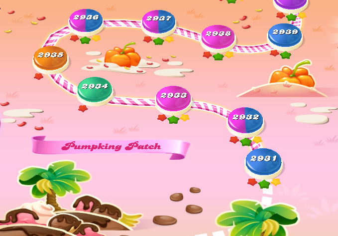 Candy Crush Saga level 2931-2945