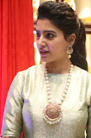 Samantha Ruth Prabhu in Cream Suit at Launch of NAC Jewelles Antique Exhibition 2.8.17 ~  Exclusive Celebrities Galleries 065.jpg