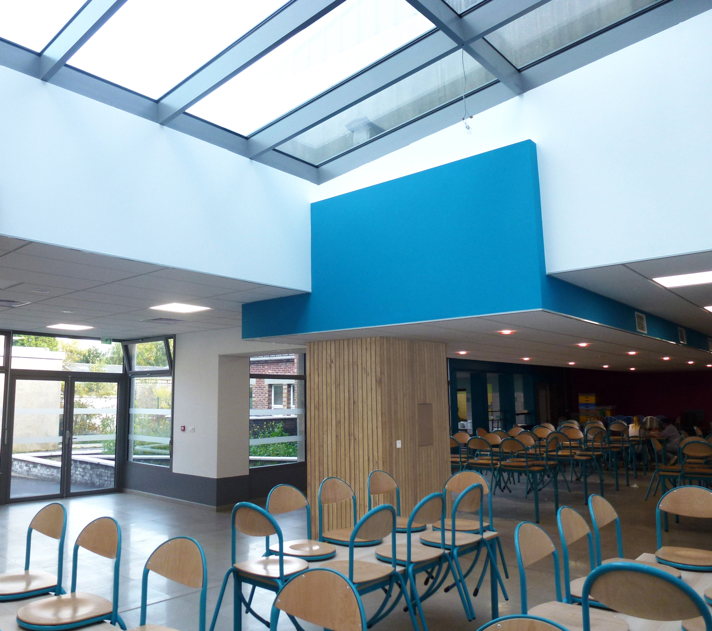 extension d 39 un restaurant scolaire marcq en bar ul 59 phase 2 agence delannoy simoens. Black Bedroom Furniture Sets. Home Design Ideas