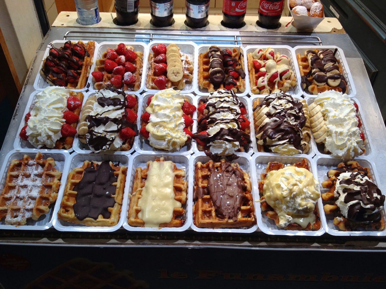 Brussels - More waffles and their toppings