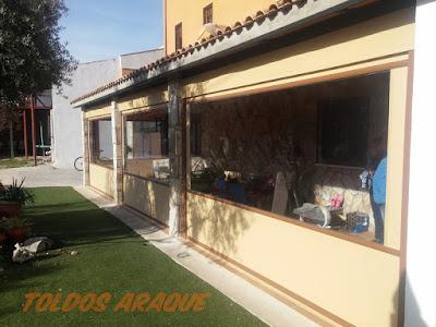 Empresa Toldos en Madrid  instaladores  TOLDOS CORTAVIENTOS SAN MARTIN DE LA VEGA Trabajos realizados