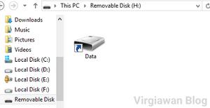 Memperbaiki flashdisk terkena virus shortcut