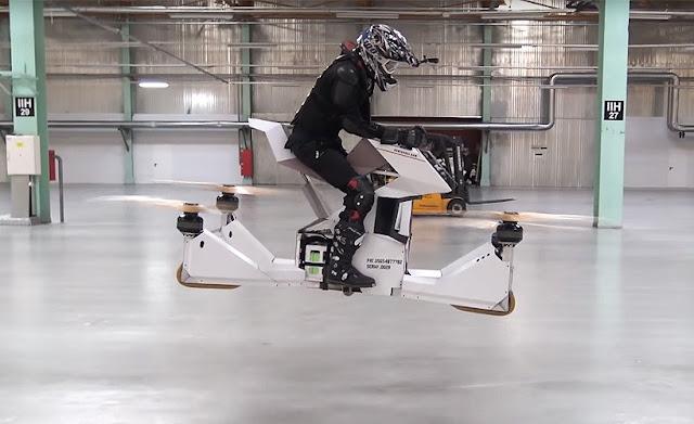 El prototipo de la moto voladora ya es funcional