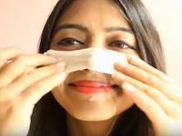 Washing the blackheads off your face