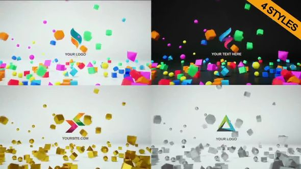 4 In 1 Logo Reveal 3D - Premiere Pro Templates 78645
