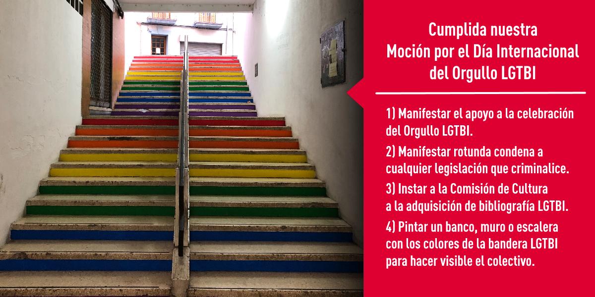Cumplida nuestra moción por el Día del Orgullo LGTBI
