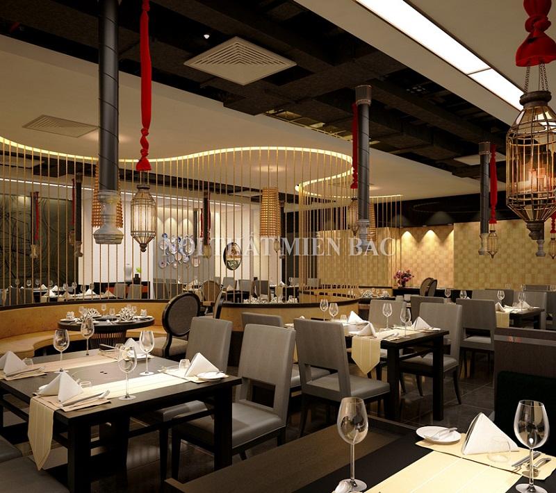 Thiết kế nhà hàng phong cách Trung Hoa