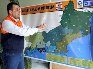 o Mapa de Ameaças Múltiplas do Estado do Rio de Janeiro foi lançado nesta quarta-feira (22/6) pela Secretaria de Defesa Civil