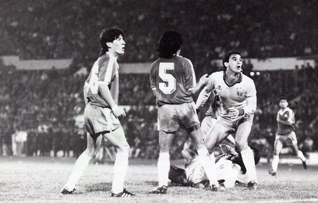 Chile y Brasil en Clasificatorias a Italia 1990, 13 de agosto de 1989