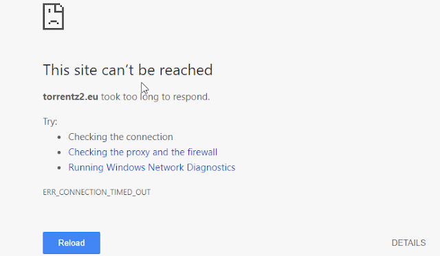 site cant be reached error