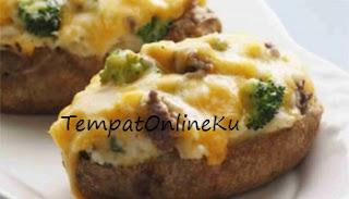kentang panggang keju