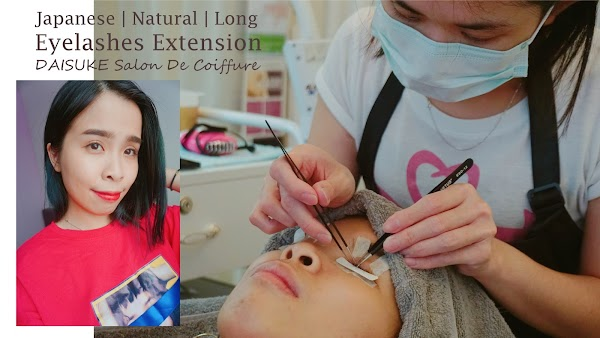Natural Long Eyelashes Extension with DAISUKE Salon De Coiffure