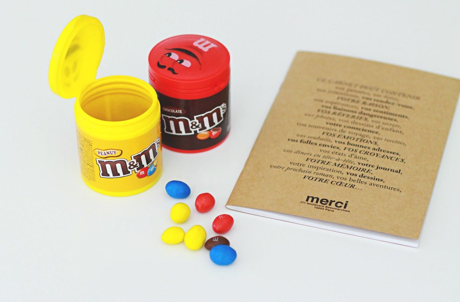 m&m's box