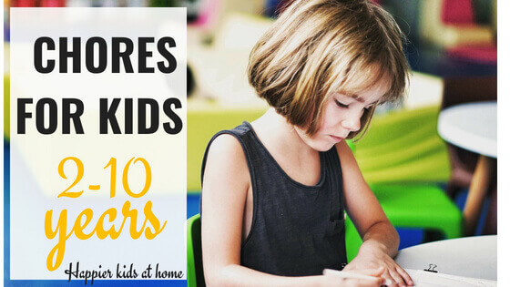 Household chore for kids by age