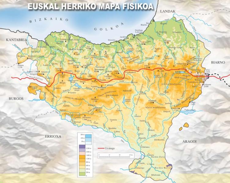 Euskal Herriko Mapa Politikoa.4 1 Maite Ditut Gure Bazterrak Euskal Herriko Mapa Fisikoa