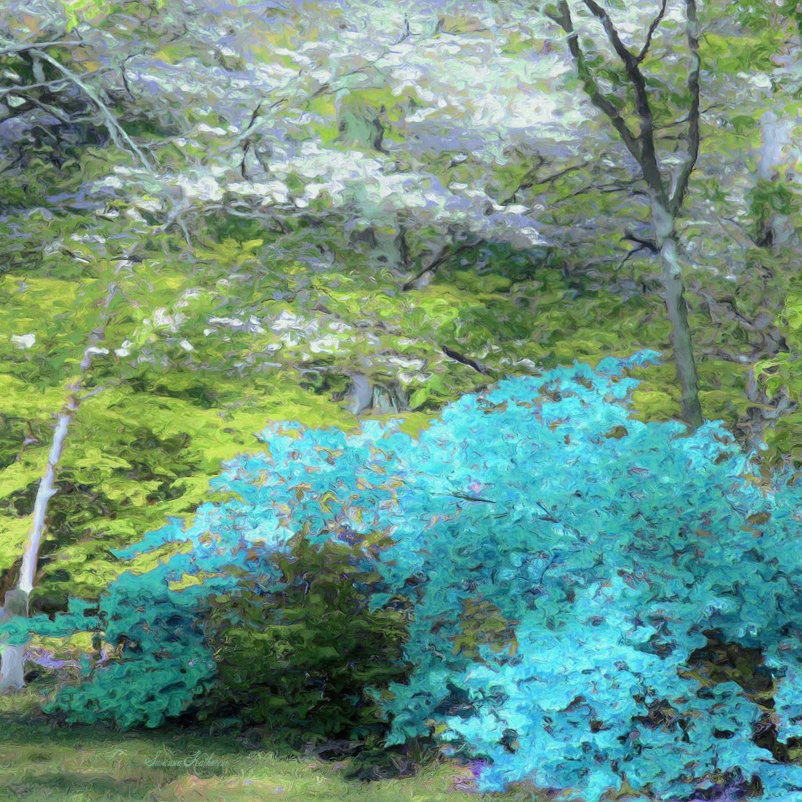 Paintings-of-Artists-Original-Unusual- Art: Azalea Bush And Dogwood ...