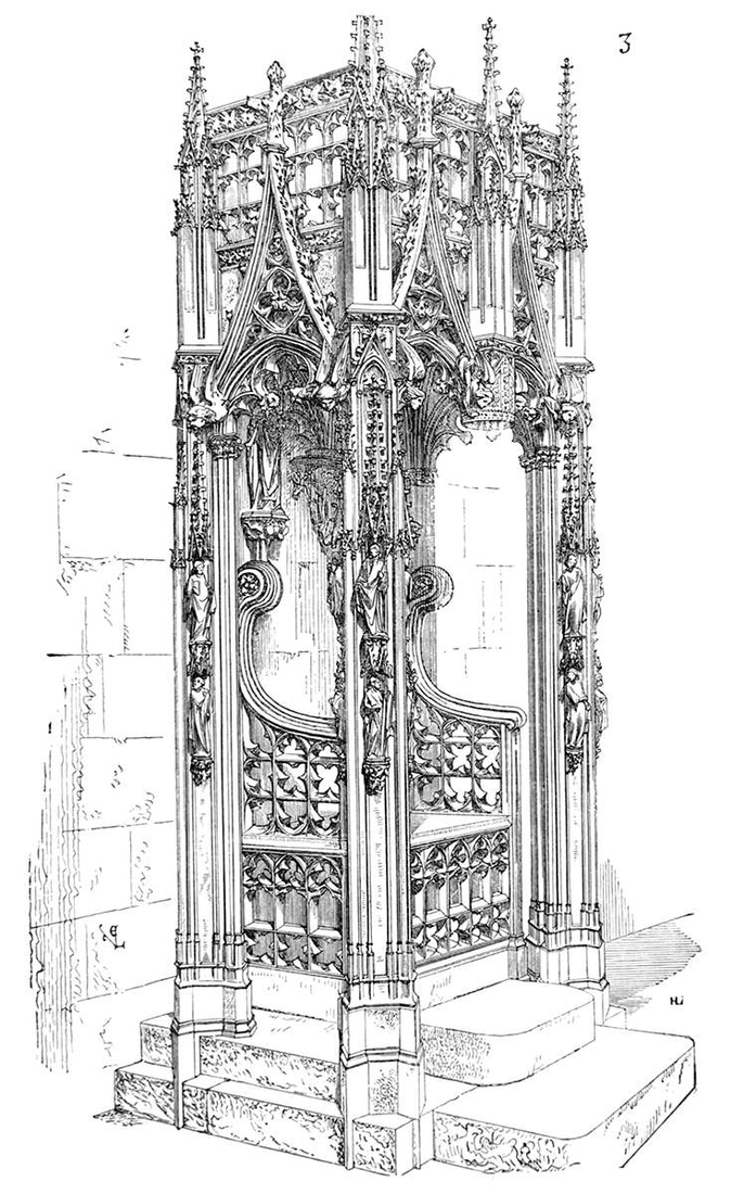 06-St-Séverin-Church-Bordeaux-Eugène-Viollet-le-Duc-Gothic-Drawings-from-an-Architect-in-18th-Century-www-designstack-co