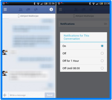 how to stop receiving facebook notifications on phone