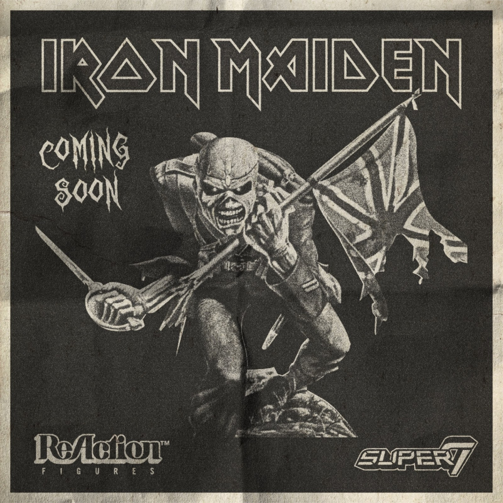 Iron Maiden S Eddie As M U S C L E Reaction Figures Coming From