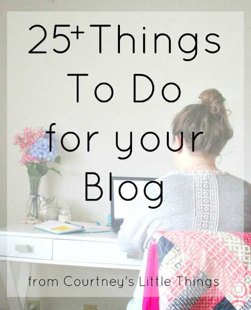 Things to do for your blog | blogging to do list