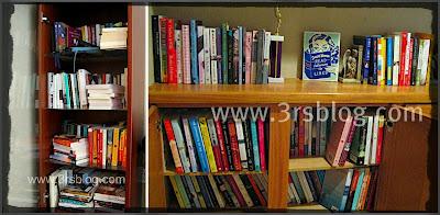 bookshelves collage   www.3rsblog.com