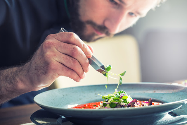 Reykjavik chef at fine dining restaurant