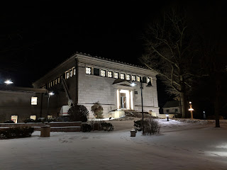 The Franklin Library also is a showcase for the Milford granite
