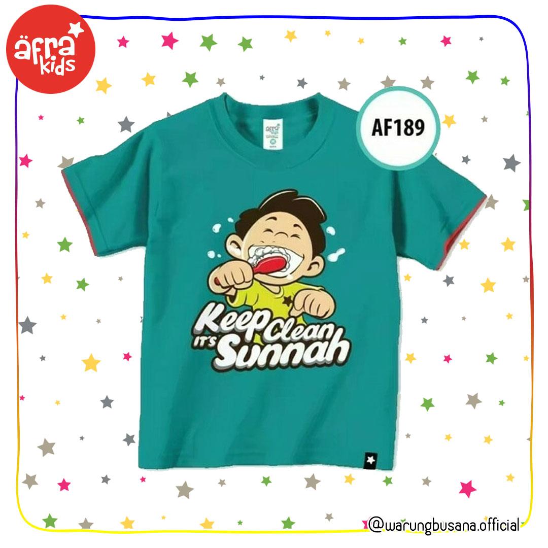 Afrakids Kaos Anak AF189 Keep Clean its Sunnah