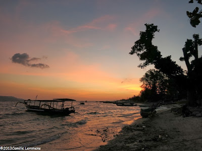 Sunset on Gili Air, Indonesia