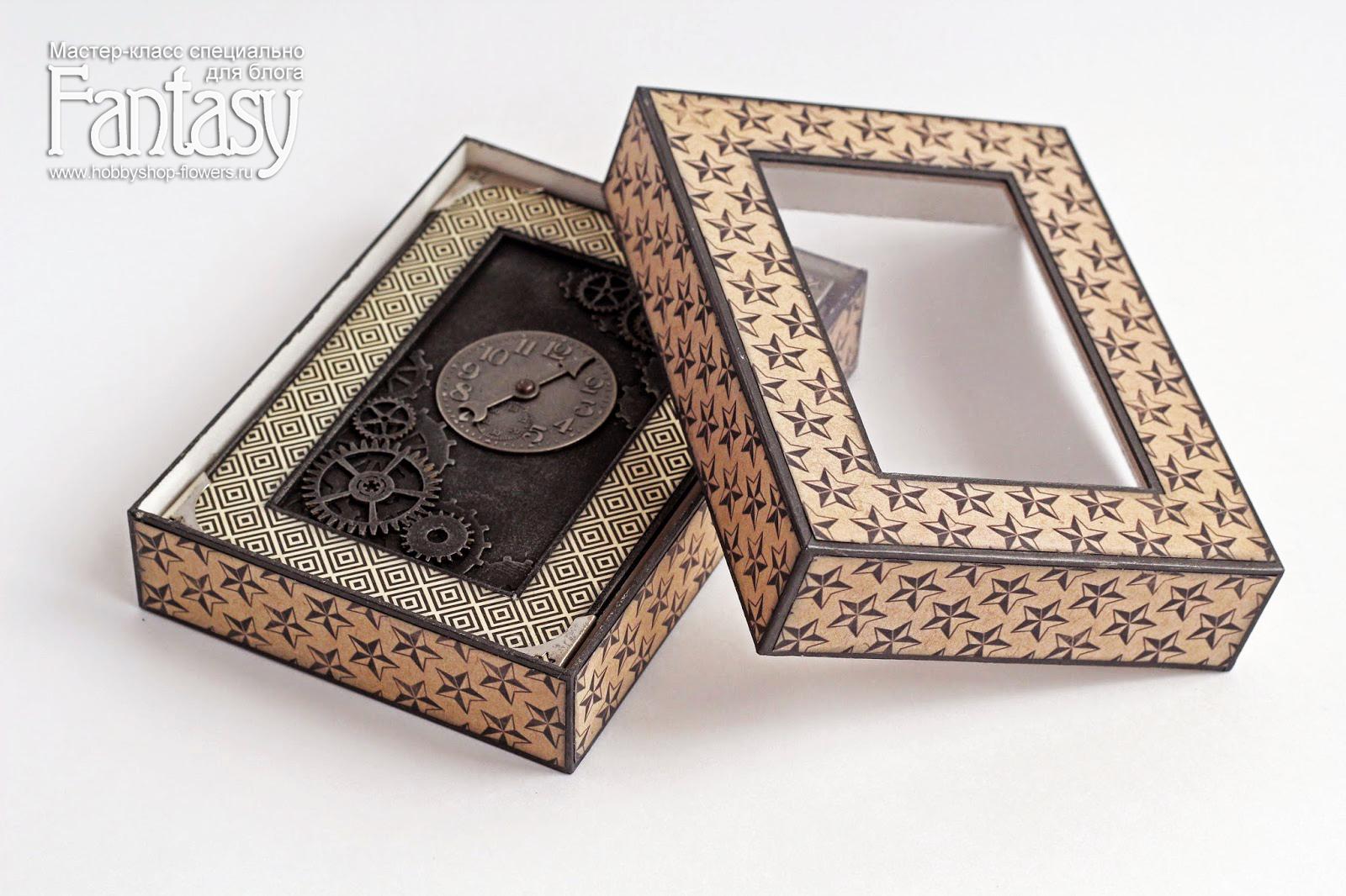 Шкатулка из коробки мастер класс с фото #11