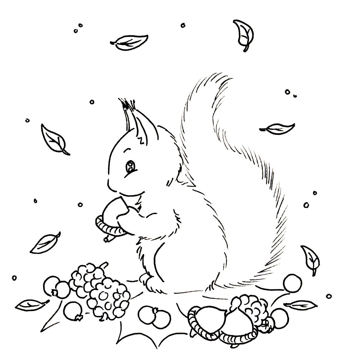 sliekje digi stamps squirrel