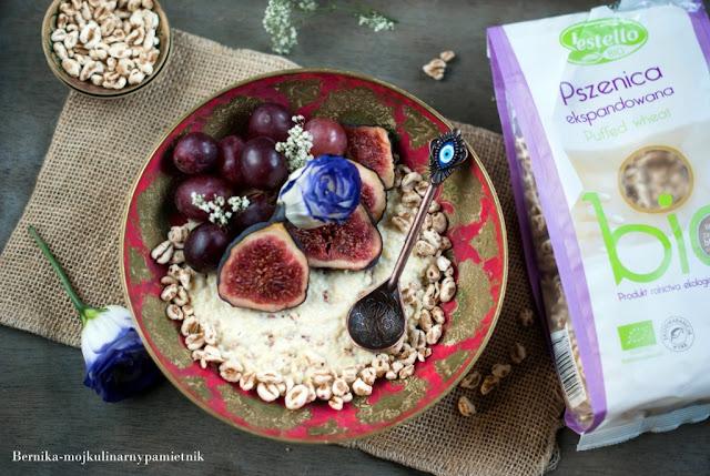 jaglanka, owoce, figi, pszenica, lestello, sniadanie, bernika, kulinarny pamietnik