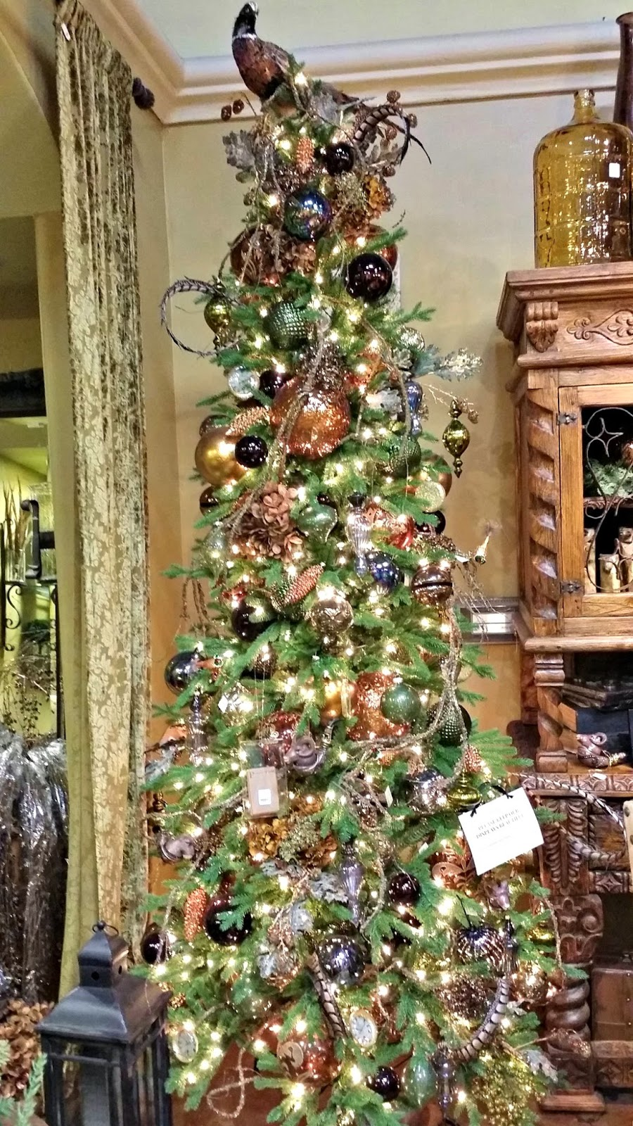 christmas tree with pheasant