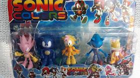 Pack de 5 figuras de Sonic colors Por solo: $ 4000